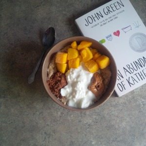 Great book and pretty oatmeal.
